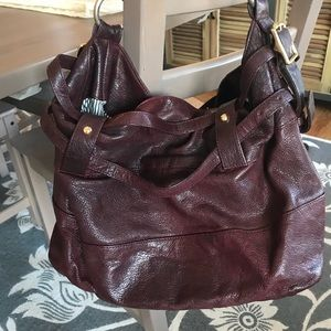 Rebecca Minkoff leather hobo wine burgundy